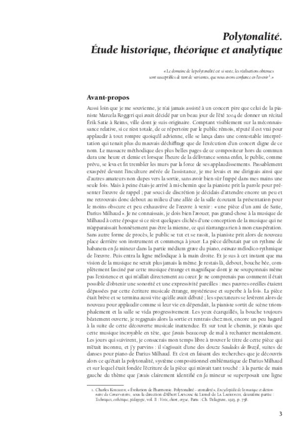 Polytonalité, étude historique, théorique et analytique, extrait 2