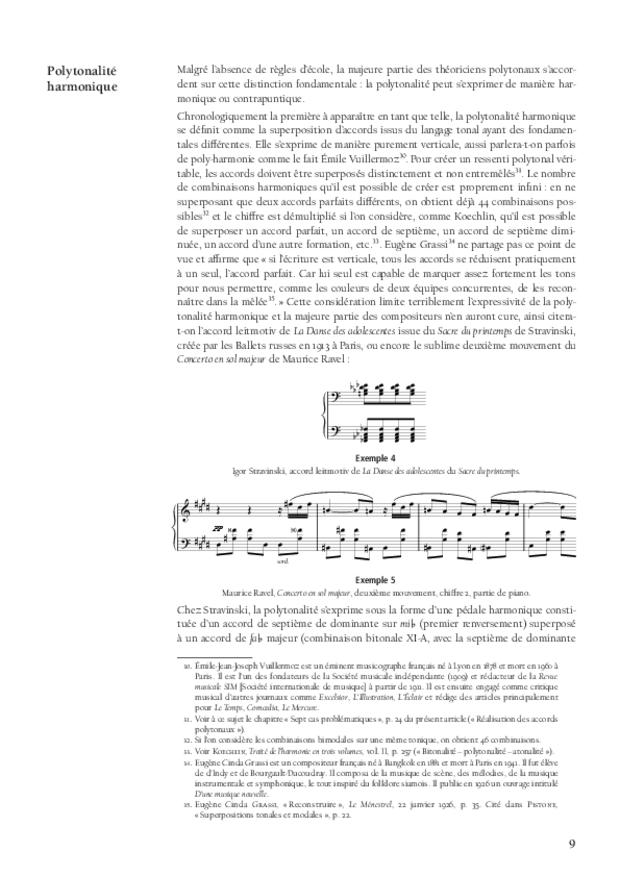 Polytonalité, étude historique, théorique et analytique, extrait 3