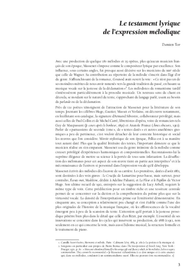 Massenet en des soirs testamentaires, extrait 2
