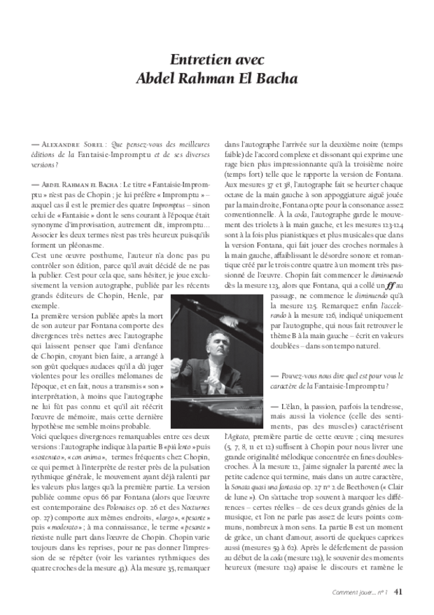 La Fantaisie-Impromptu de Chopin, extrait 5