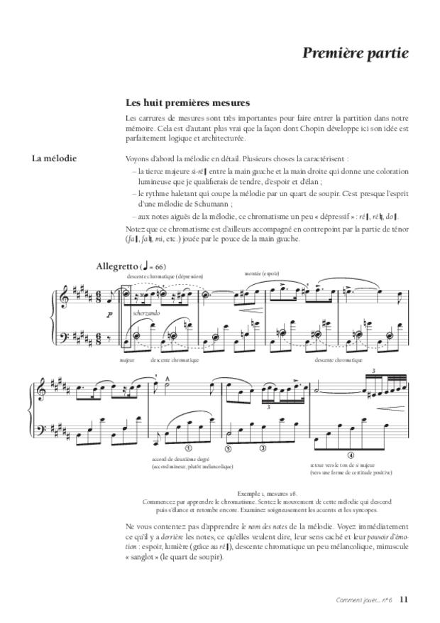 Le Nocturne en si majeur op. 9 no 3 de Chopin, extrait 4