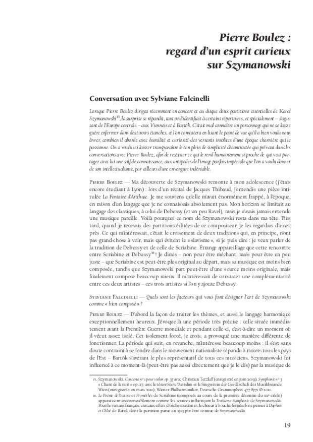 Mythes et mystiques à l'orée du xxe siècle de Szymanowski à Elgar, extrait 3