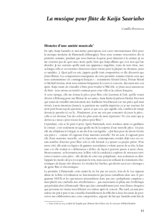 Kaija Saariaho: l'ombre du songe, extrait 4