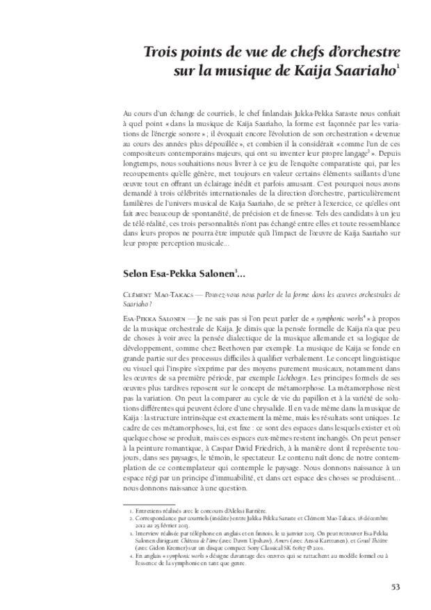 Kaija Saariaho: l'ombre du songe, extrait 6