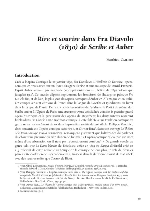 Rire et sourire dans l'opéra-comique en France aux xviiie et xixe siècles, extrait 6