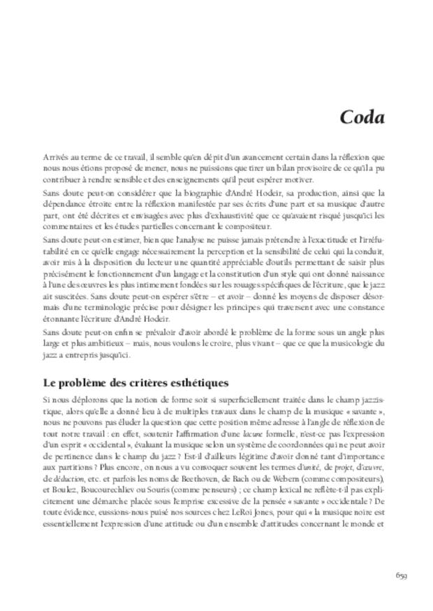 André Hodeir, extrait 13