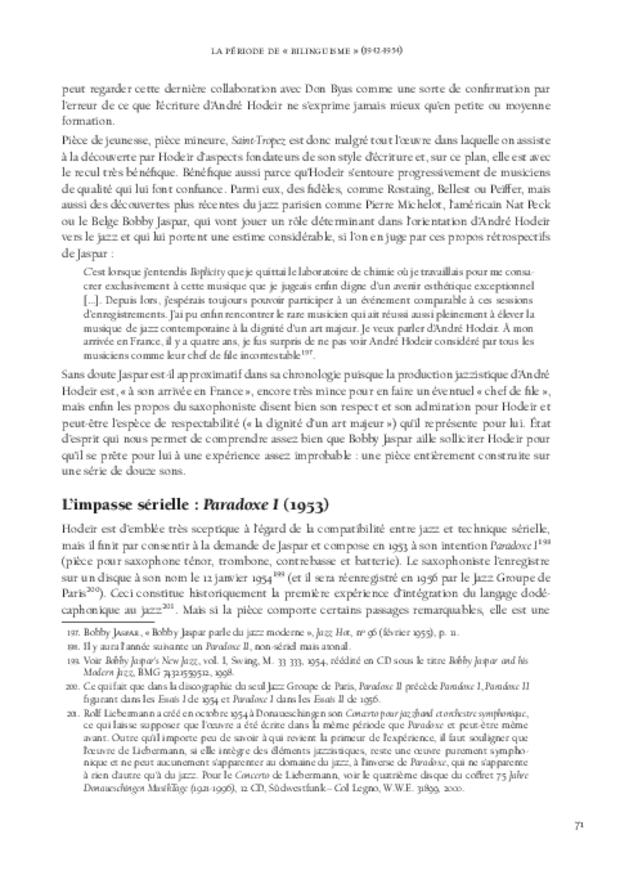 André Hodeir, extrait 6
