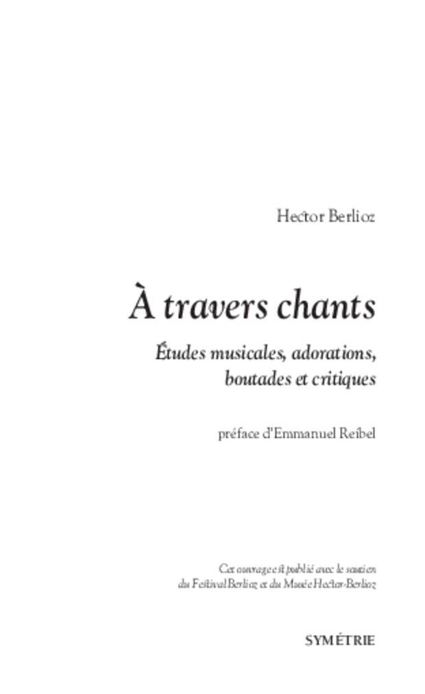 À travers chants, extrait 1