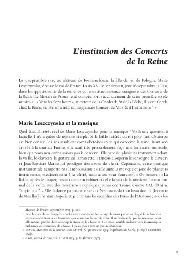Les Concerts de la Reine (1725-1768), extrait 3