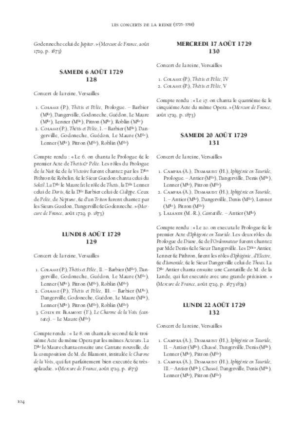 Les Concerts de la Reine (1725-1768), extrait 6