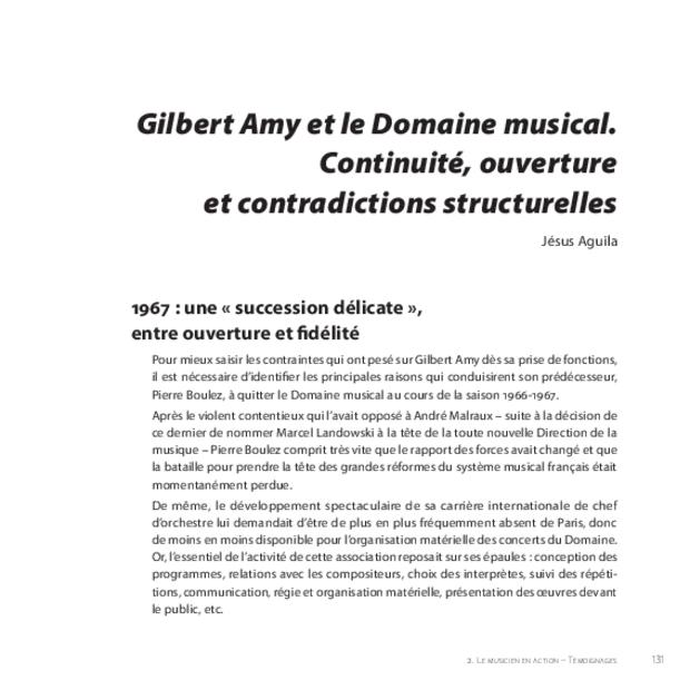 Gilbert Amy: le temps du souffle, extrait 11