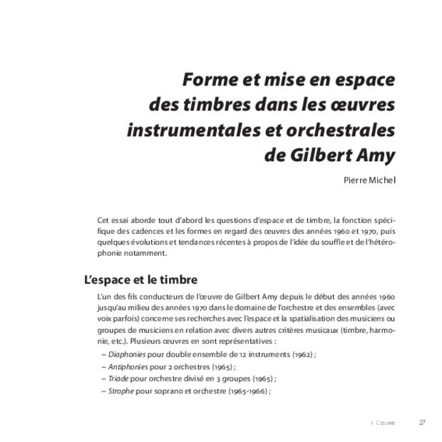 Gilbert Amy: le temps du souffle, extrait 4
