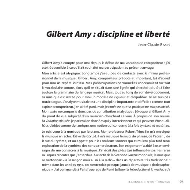 Gilbert Amy: le temps du souffle, extrait 8