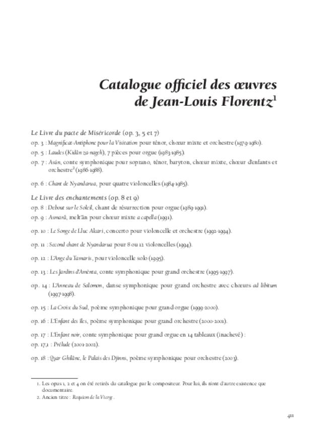 Jean-Louis Florentz et l'orgue. Essai analytique et exégétique, extrait 13