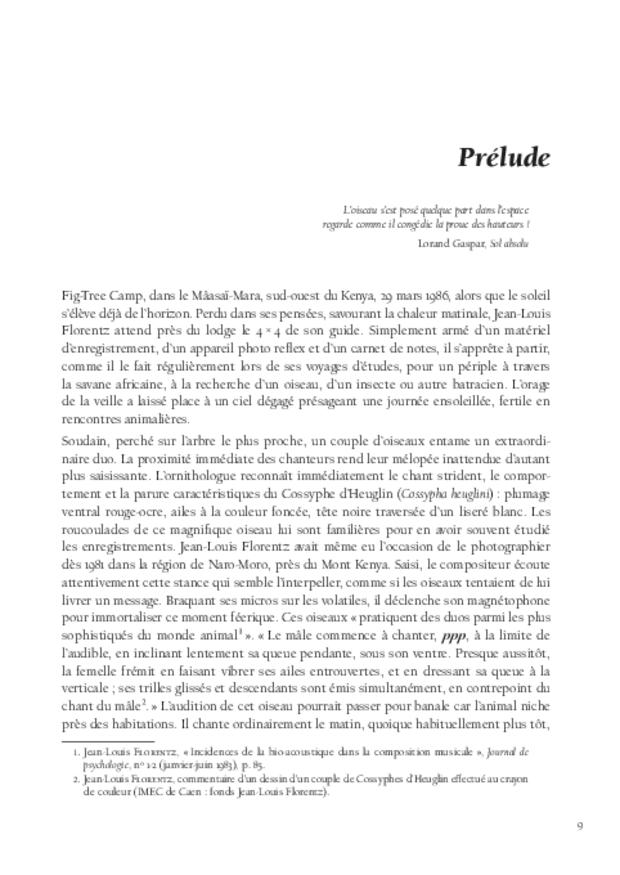 Jean-Louis Florentz et l'orgue. Essai analytique et exégétique, extrait 3