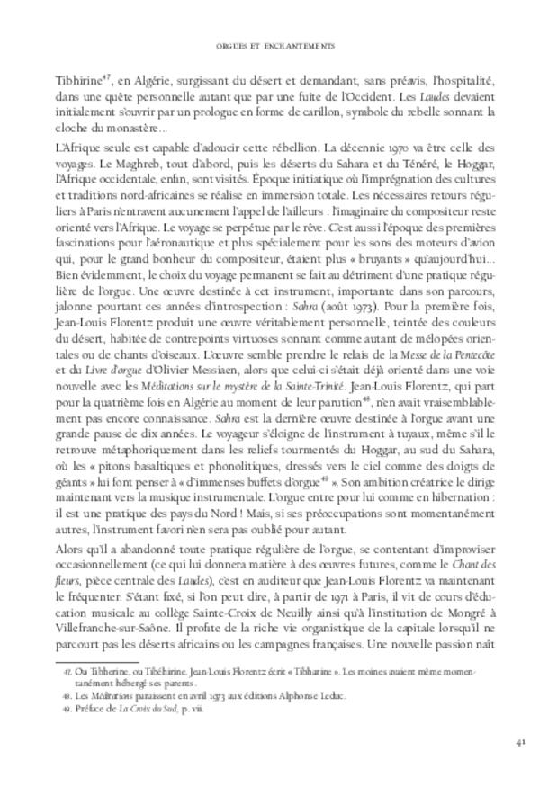 Jean-Louis Florentz et l'orgue. Essai analytique et exégétique, extrait 4