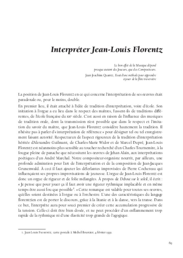 Jean-Louis Florentz et l'orgue. Essai analytique et exégétique, extrait 5