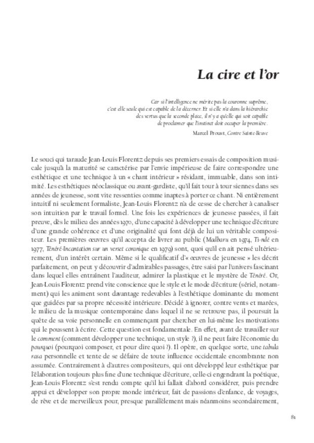 Jean-Louis Florentz et l'orgue. Essai analytique et exégétique, extrait 6