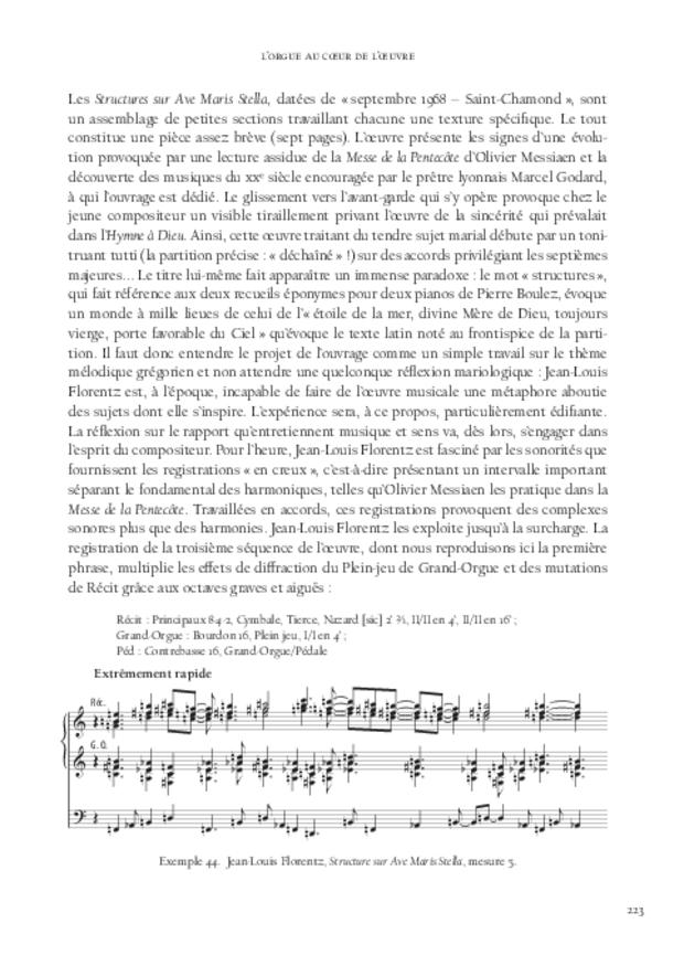 Jean-Louis Florentz et l'orgue. Essai analytique et exégétique, extrait 7