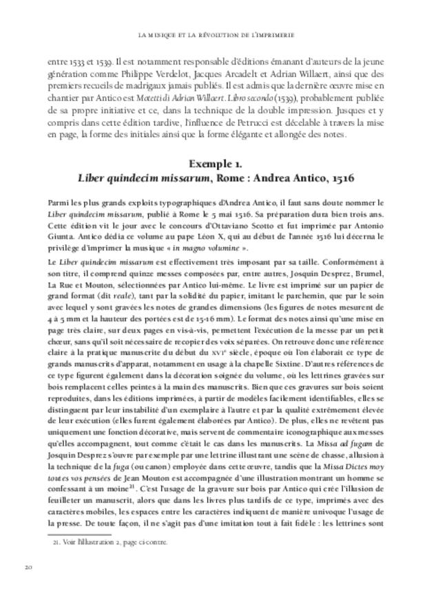 La Musique et la révolution de l'imprimerie, extrait 3