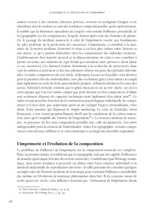 La Musique et la révolution de l'imprimerie, extrait 6