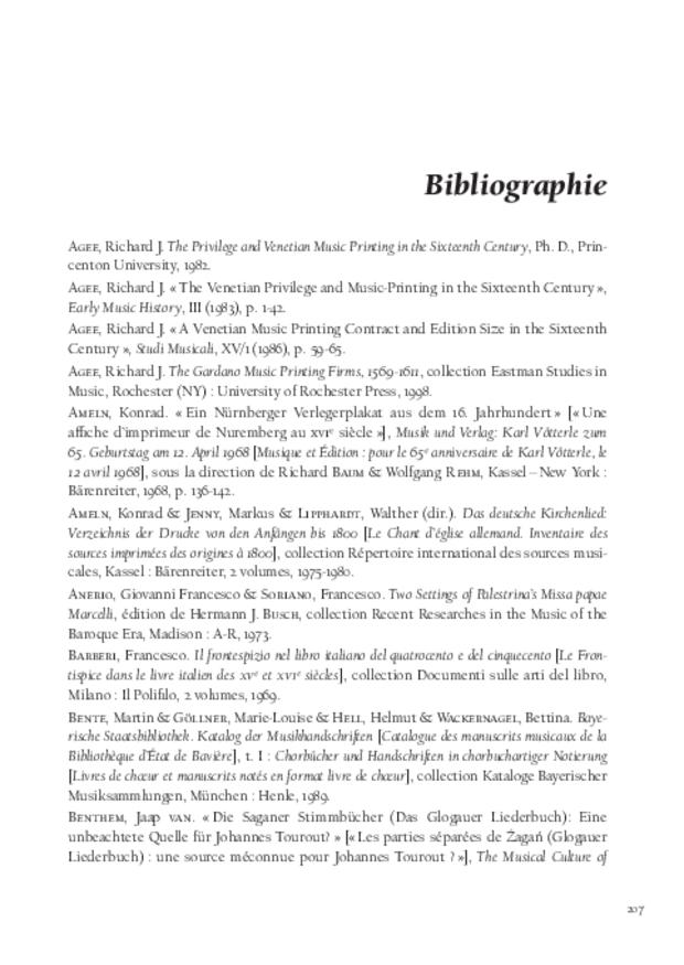 La Musique et la révolution de l'imprimerie, extrait 7