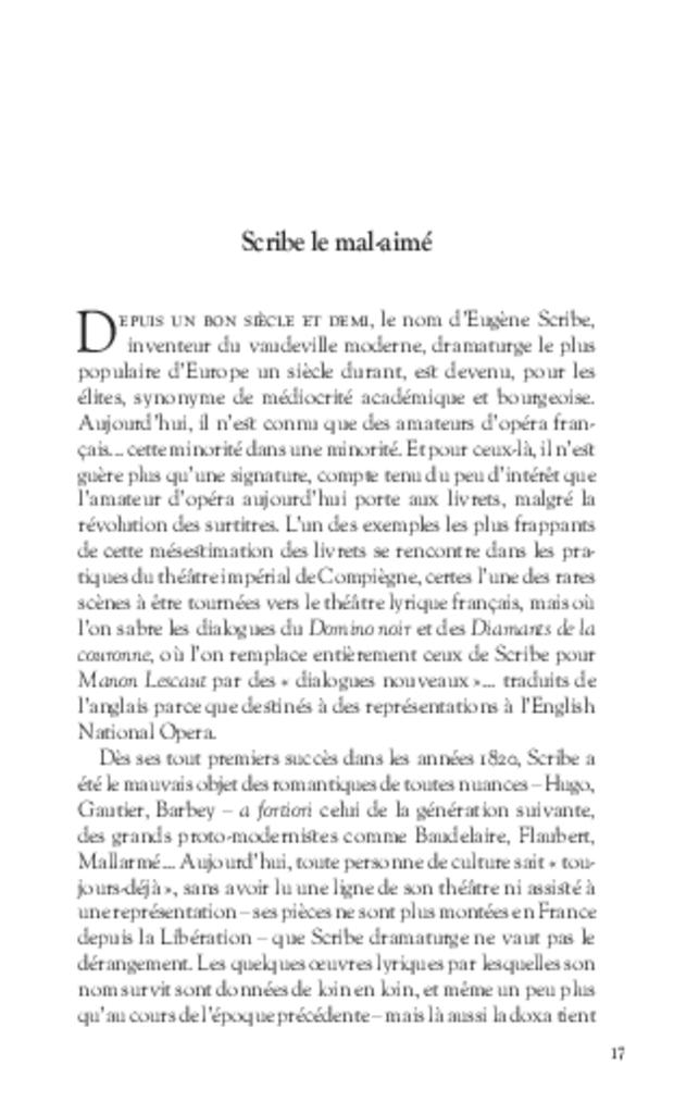 Eugène Scribe ou Le Gynolâtre, extrait 3