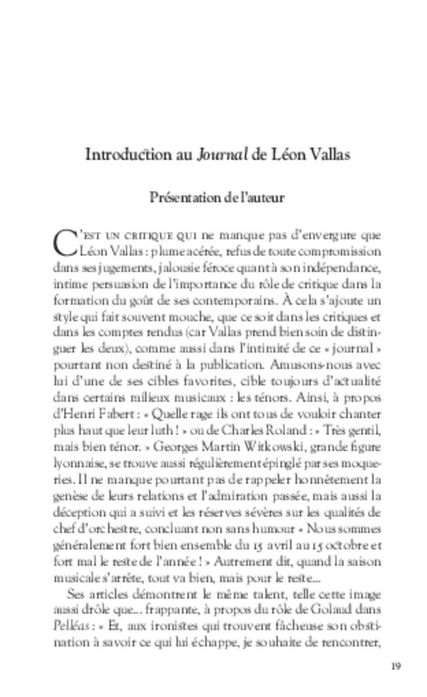 Journal d'un critique musical lyonnais, extrait 3