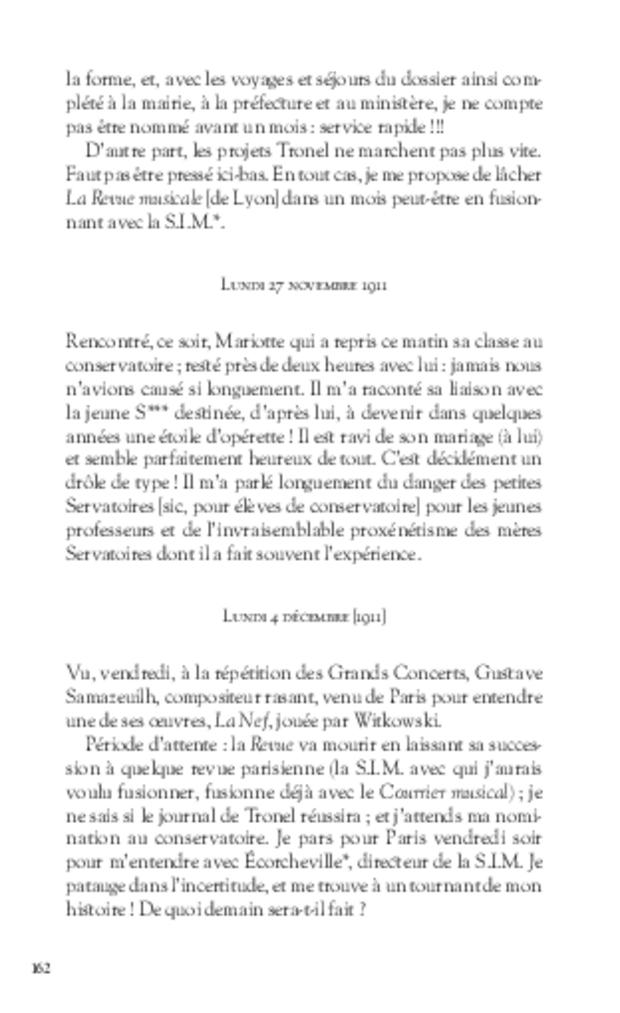 Journal d'un critique musical lyonnais, extrait 5