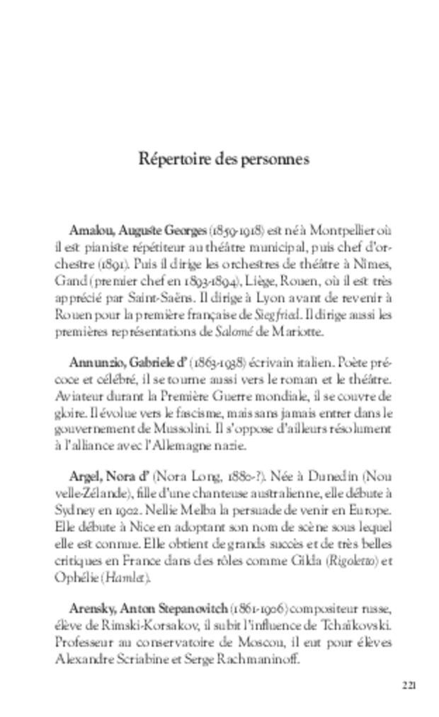 Journal d'un critique musical lyonnais, extrait 6