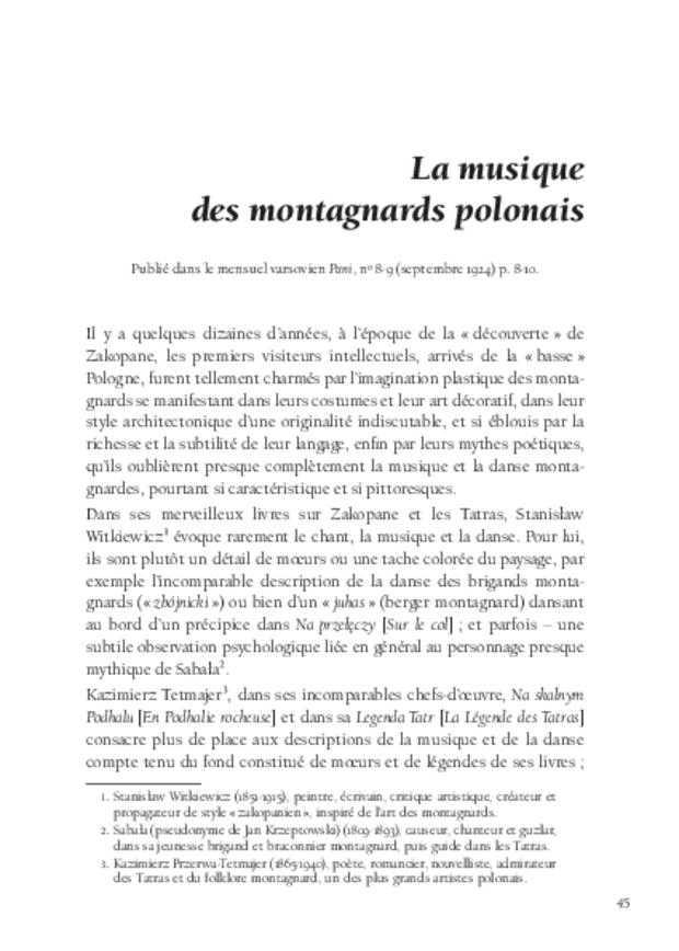Écrits sur la musique, extrait 4
