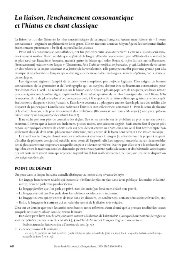 Le Français chanté, extrait 7