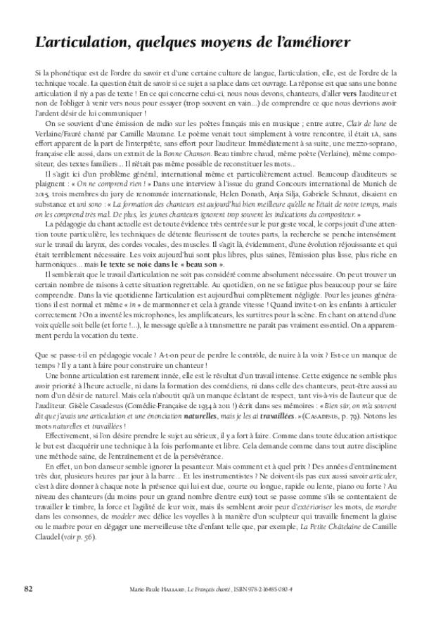 Le Français chanté, extrait 9