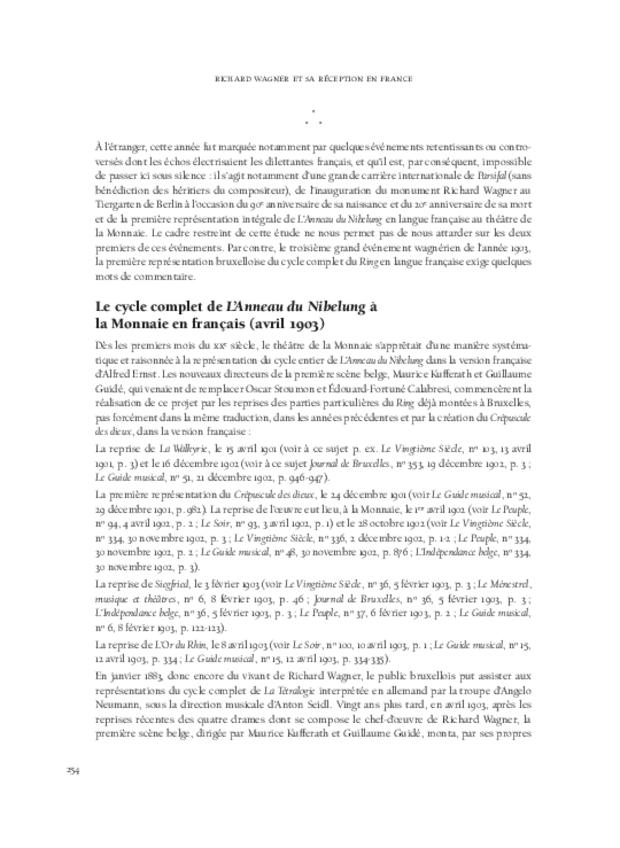 Richard Wagner  et sa réception en France, extrait 11
