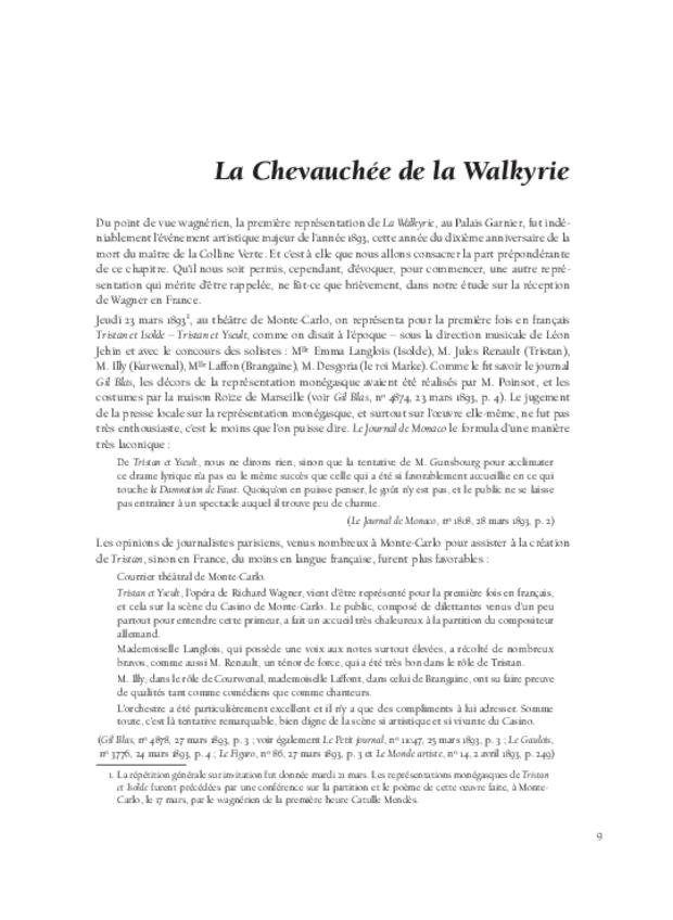 Richard Wagner  et sa réception en France, extrait 5