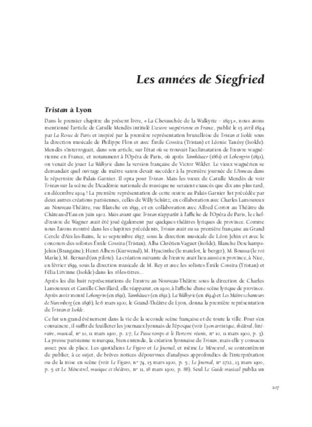 Richard Wagner  et sa réception en France, extrait 9