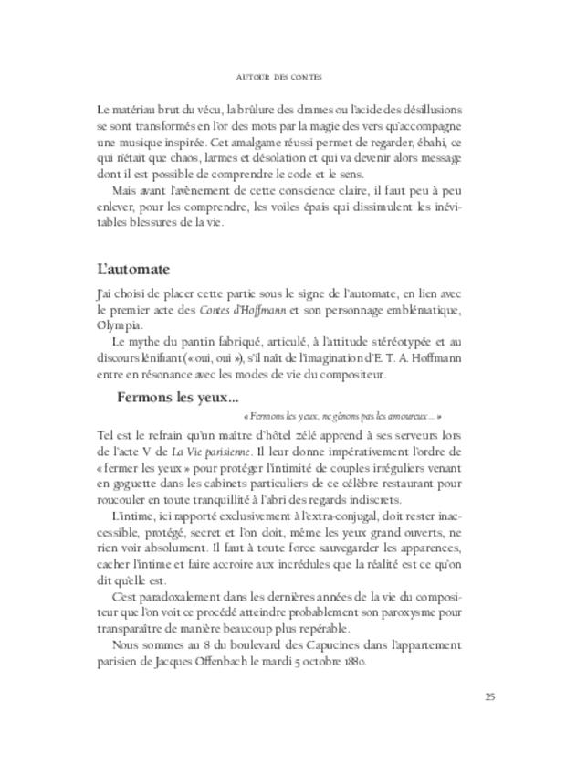 Les Contes d'Hoffmann, extrait 4