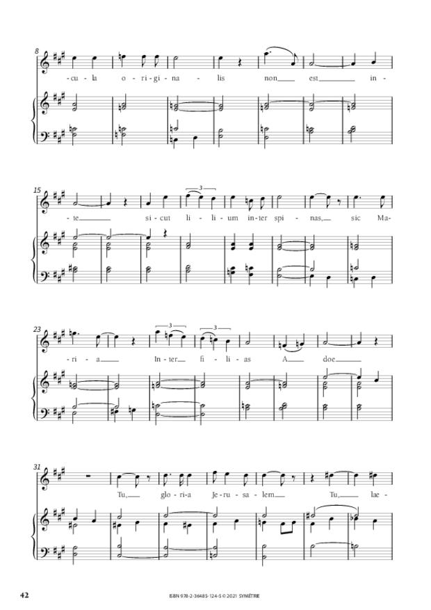 Les Dix Motets, extrait 10