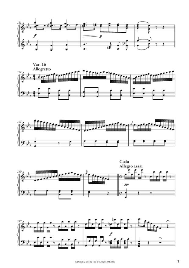 Variations pour piano, extrait 3