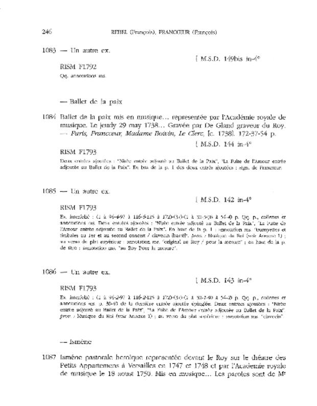 Catalogue du fonds musical de la bibliothèque de Versailles, extrait 6