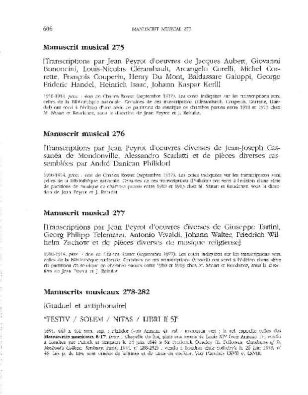 Catalogue du fonds musical de la bibliothèque de Versailles, extrait 7