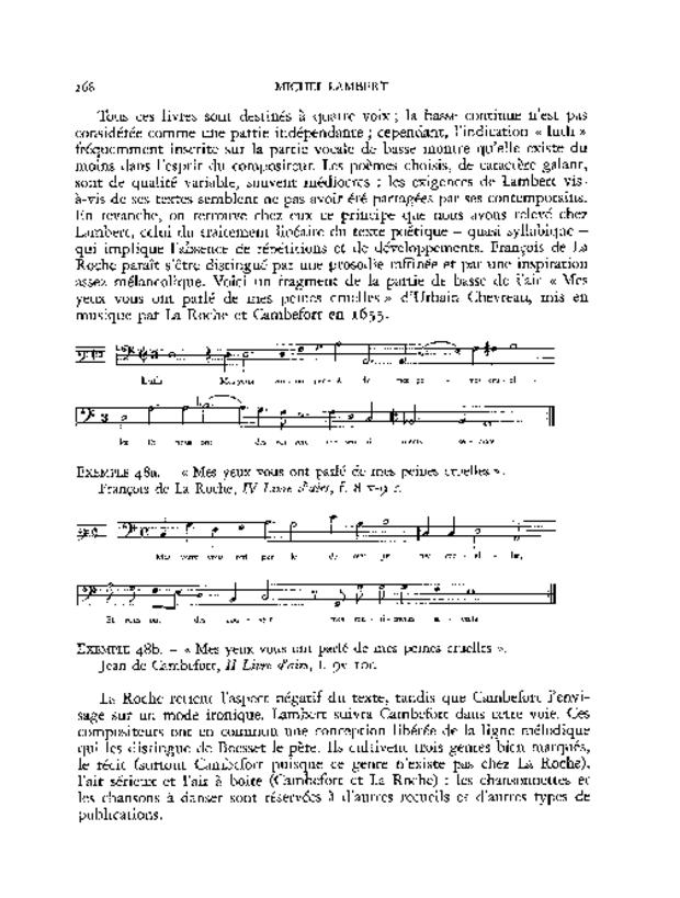 L'Art de bien chanter: Michel Lambert, extrait 7