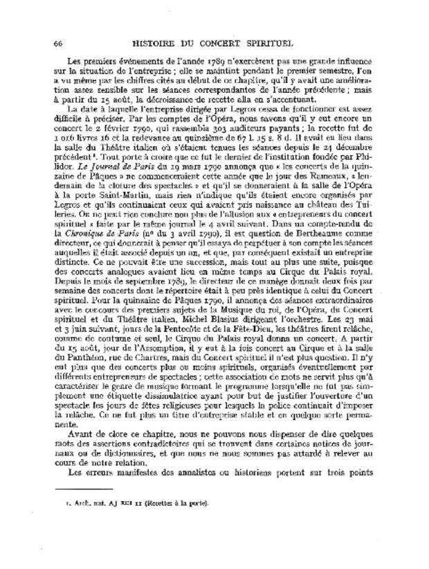 Histoire du Concert spirituel, extrait 3