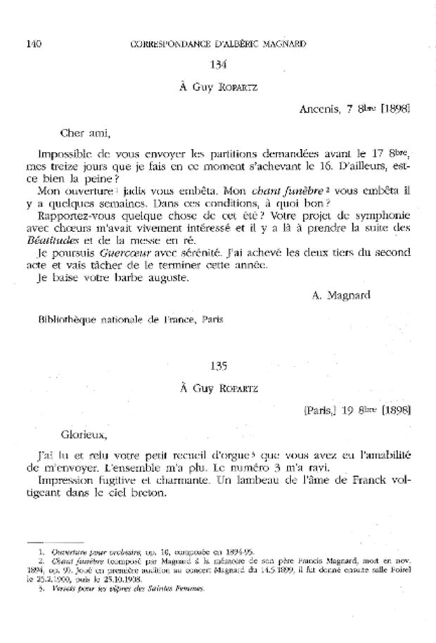 Correspondance, extrait 4