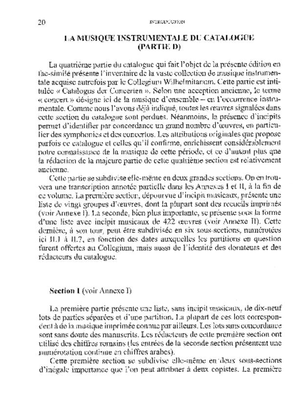 Catalogue de la musique instrumentale du Collegium Wilhelmitanum de Strasbourg, extrait 3