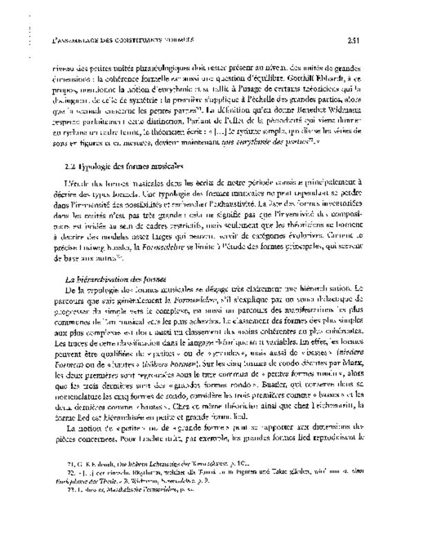 La Théorie musicale germanique du XIXe siècle et l'idée de cohérence, extrait 6