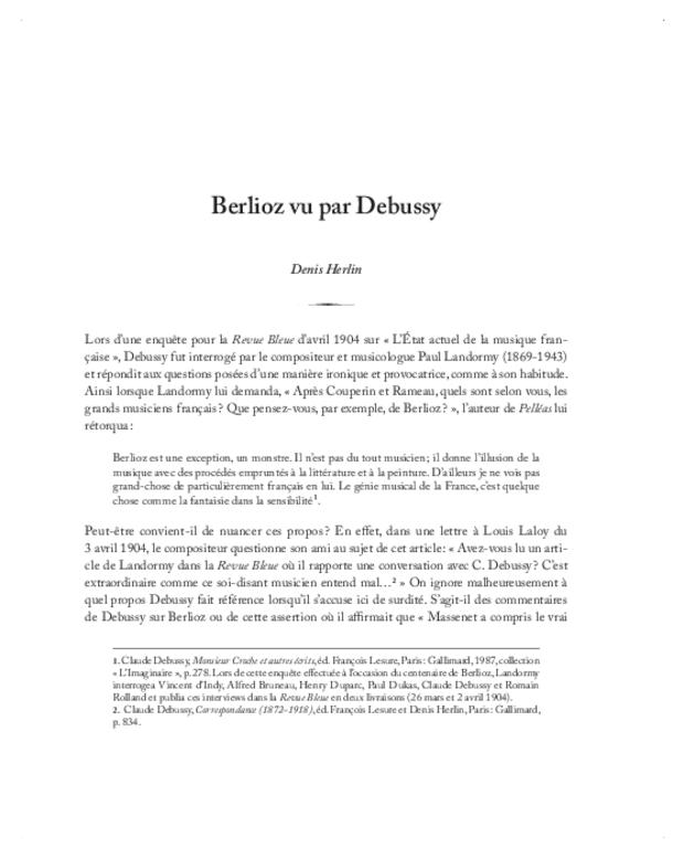 Berlioz, textes et contextes, extrait 6
