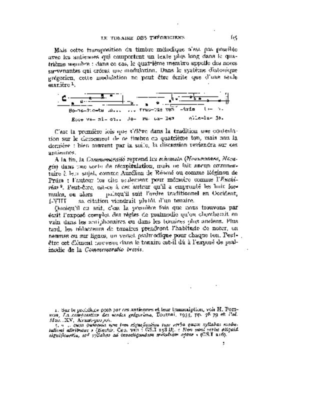 Les Tonaires: inventaire, analyse, comparaison, extrait 2