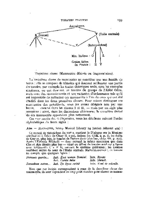 Les Tonaires: inventaire, analyse, comparaison, extrait 5