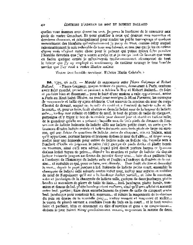 Bibliographie des éditions d'Adrian Le Roy et Robert Ballard, extrait 3